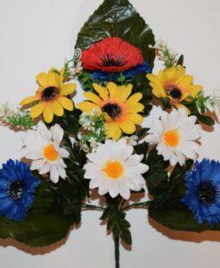 Искусственные цветы-Полевой букет микс 10-ка R-909