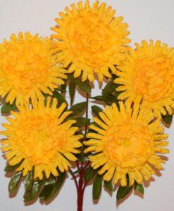Искусственные цветы-Хризантема большая 5-ка не прес R-837