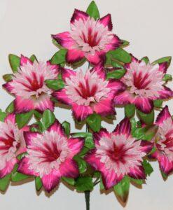 Искусственные цветы-Звезда колокольчик атласная 8-ка не прес R-849