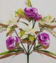 Искусственные цветы-Роза с крокусом пластмасовая не прес R-836