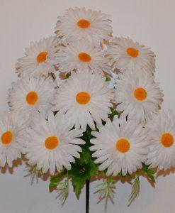 Искусственные цветы-Ромашка белая 11 голов R-855