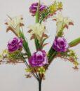 Искусственные цветы-Роза с колокольчиком пластмасовая не прес R-838