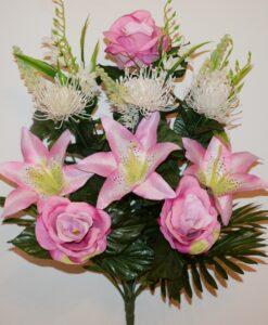 Искусственные цветы-Бутон большой+лилия с ёжиком не прес R-844