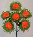 Искусственные цветы-Шар с пальмовым листом 6-ка R-886