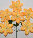 Искусственные цветы-Мальва расписная  6-ка не пресовка R-874