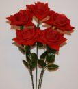 Искусственные цветы- Ветка Роза бархат крупная B-88