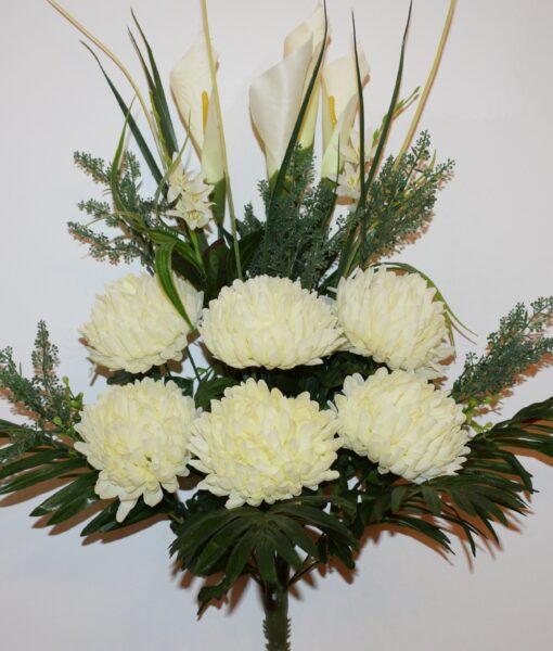 Искусственные цветы-Шар хризантема с калами непрес R-893