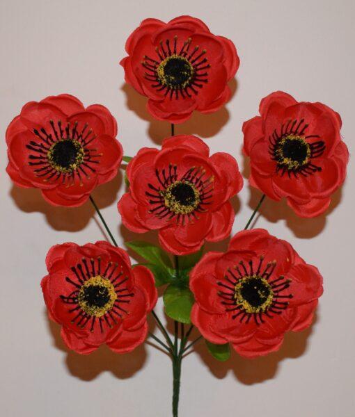Искусственные цветы -Мачок 6-ка R-756