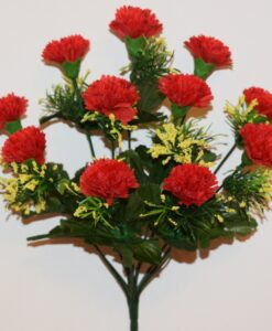 Искусственные цветы-Гвоздичка цветная с присыпкой 11-ка R-908