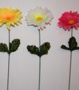 Искусственные цветы- Ветка Ромашка цветная B-91