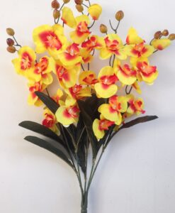 Искусственные цветы —Орхидея букет непрес R-690