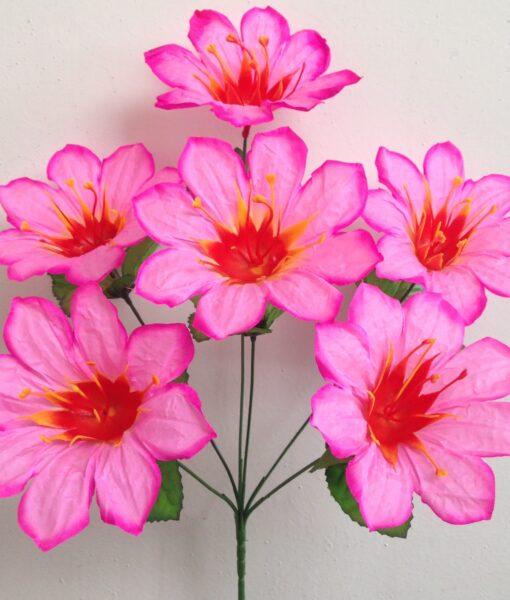 Искусственный цветок -Астра цветная с пластмаской 6-ка R-900