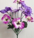 Искусственные цветы-Анютка букет R-697