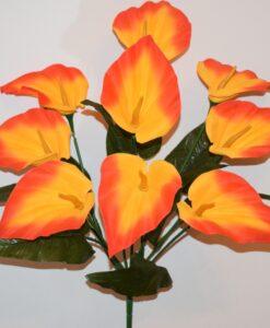 Искусственные цветы-Кала бархатная 9-ка R-915