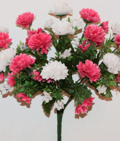 Искусственные цветы-Хризантема с детками микс R-914