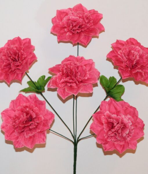 Искусственные цветы-Дубок гвоздика 6-ка R-918
