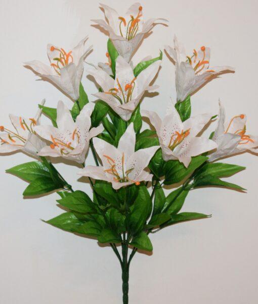 Искусственные цветы-Лилия натуральная 10-ка не прес R-917