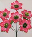 Искусственные цветы-Мальва зелёная средина 6-ка непрес R-925