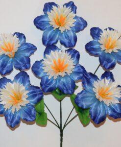 Искусственные цветы-Нарцис звёздочка 6-ка непрес R-922
