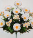 Искусственные цветы-Ромашка белая куст с добавками R-927