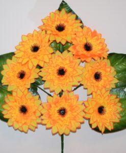 Искусственные цветы-Астра чорна средина 9-ка односторонка R-939