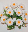 Искусственные цветы-Ромашка белая с зеленью 11-ка R-934