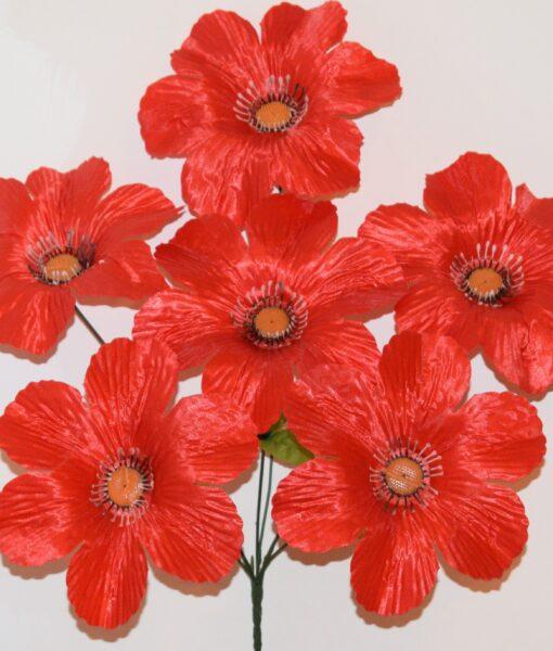 Искусственные цветы-Мальва с ресничками 6-ка не прес R-928