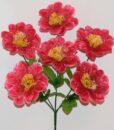 Искусственные цветы-Мальва с фатином 6-ка R-942