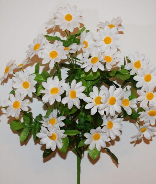 Искусственные цветы-Ромашка семейка белая R-947