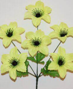Искусственные цветы-Звезда с чёрной срединой 6-ка не прес R-932