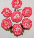 Искусственные цветы-Мальва-гвоздика 7-ка R-944