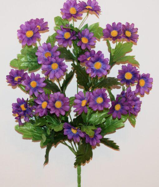 DИскусственные цветы-Ромашка семейка цветная R-943