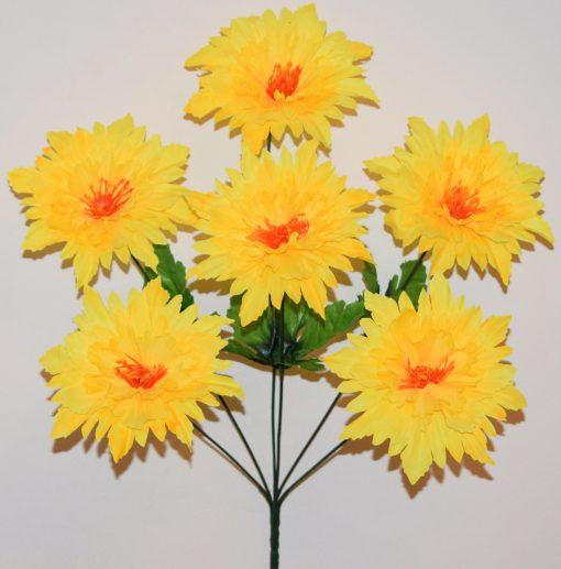 Искусственные цветы-Астра твердая средина 6-ка R-949