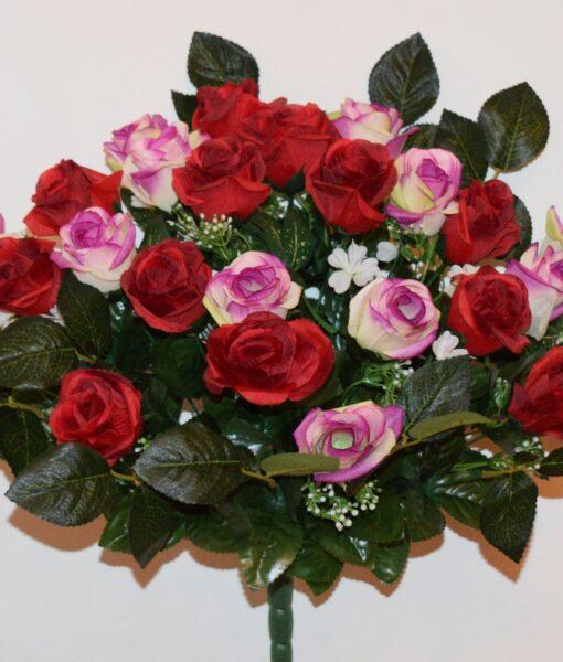 Искусственные цветы-Роза бутон люкс не пресованая R-957