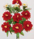 Искусственные цветы-Георгина бархат с ромашкой не прес R-954