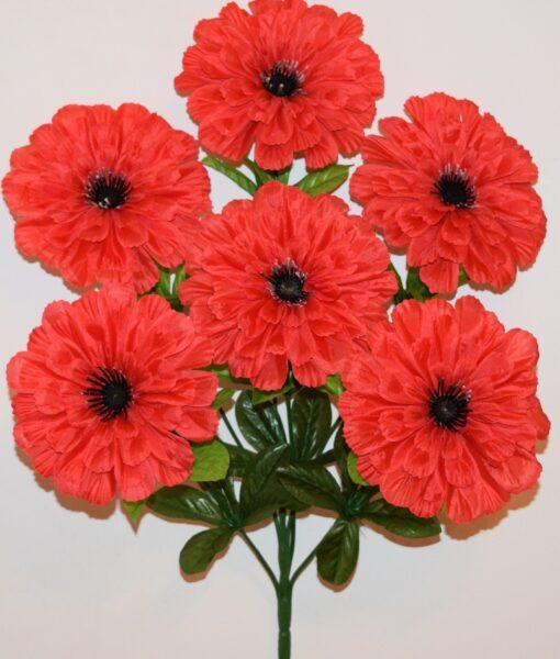 Искусственные цветы-Далия чёрная средина 6-ка R-950