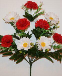 Искусственные цветы-Шар бархат с ромашкой не прес R-961