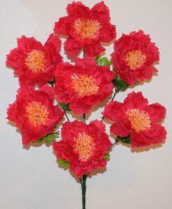 Искусственные цветы-Пион большой атласный 7-ка не прес R-956