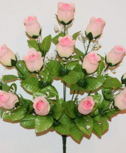 Искусственные цветы- Роза бутон кашка 14-ка не прес R-958