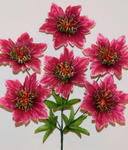 Искусственные цветы-Звезда новая с пластмаской 6-ка R-962