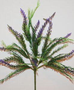 Искусственные цветы-Лаванда пластмасовая 7 веток R-948