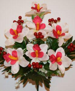 Искусственные цветы —Ирис натуральный с калинкой не прес R-620