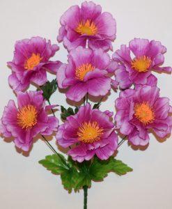 Искусственные цветы-Мальва с присыпкой 7-ка R-954