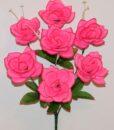 Искусственный цветок -Роза открытая с пластмасками 7-ка не прес R-972