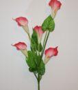 Искусственные цветы- Ветка Кала латексная большая 5-ка B-93