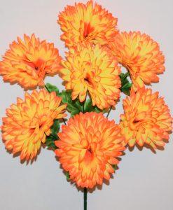 Искусственные цветы —Шар хризантема 7-ка R-866