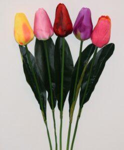 Искусственные цветы- Ветка Тюльпан большой не прес B-98