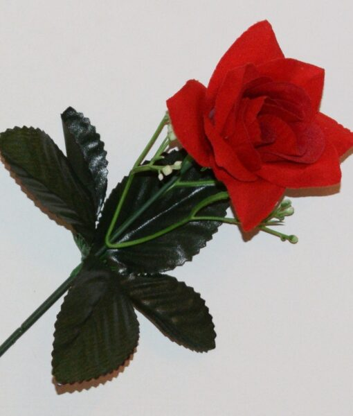 Искусственные цветы- Ветка Роза бархат с пластмаской не прес B-97