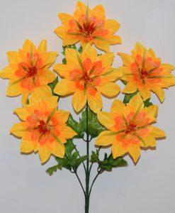 Искусственные цветы-Геоцинт большой 7-ка не прес R-1036