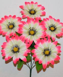 Искусственные цветы- Ветка Хризантема люкс атласная не прес B-108
